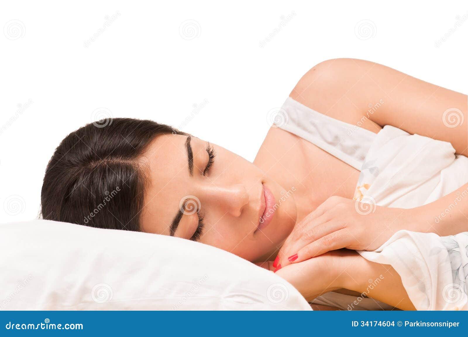 Lokalisiertes schlafendes Mädchen