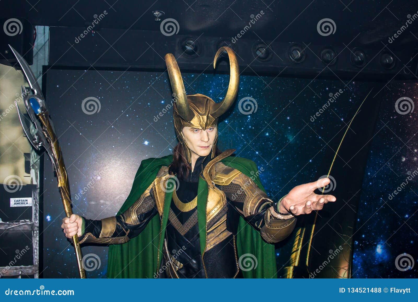 Loki, statua della cera, Amsterdam di signora Tussaud