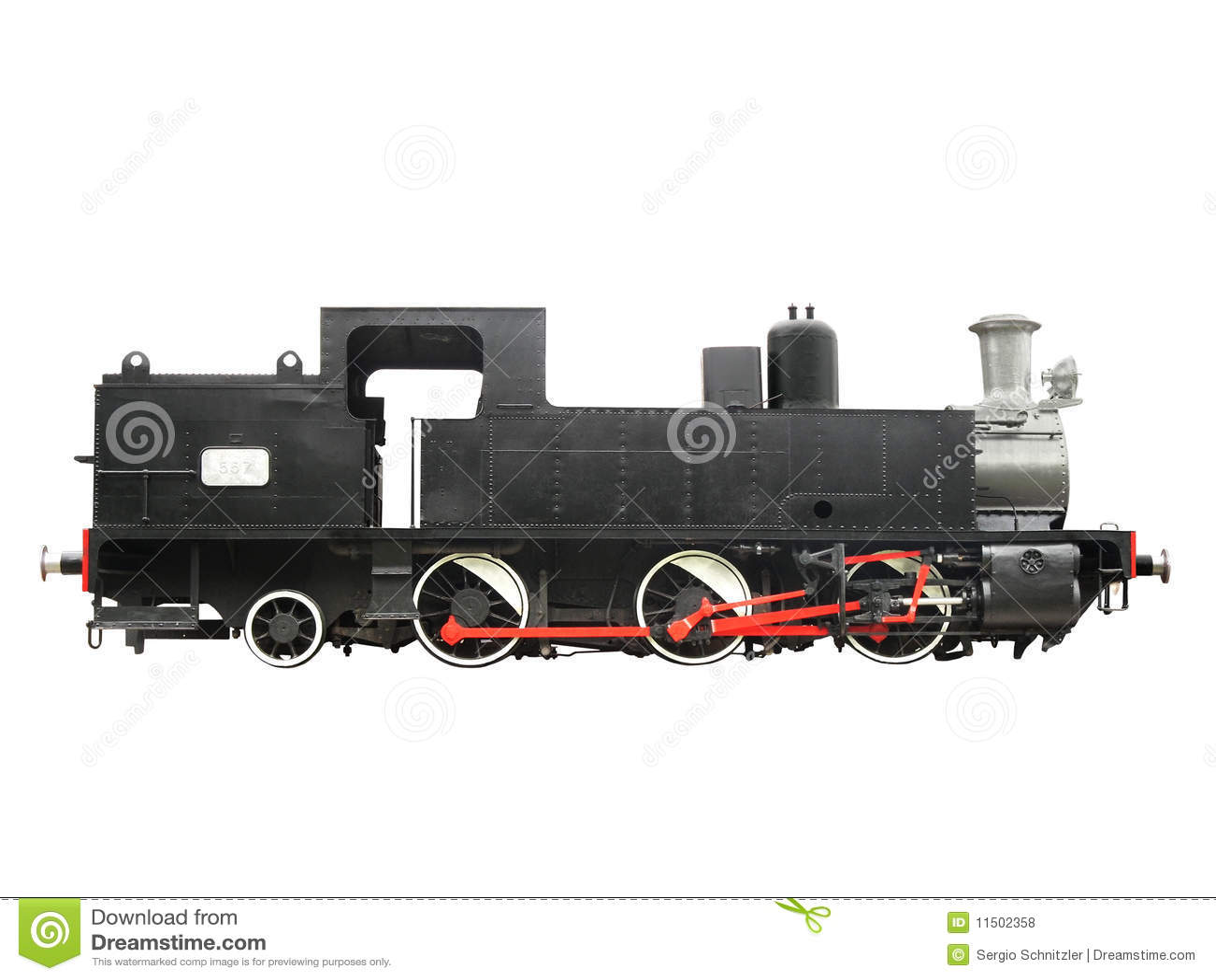 Lokomotiv för 2 antikvitet