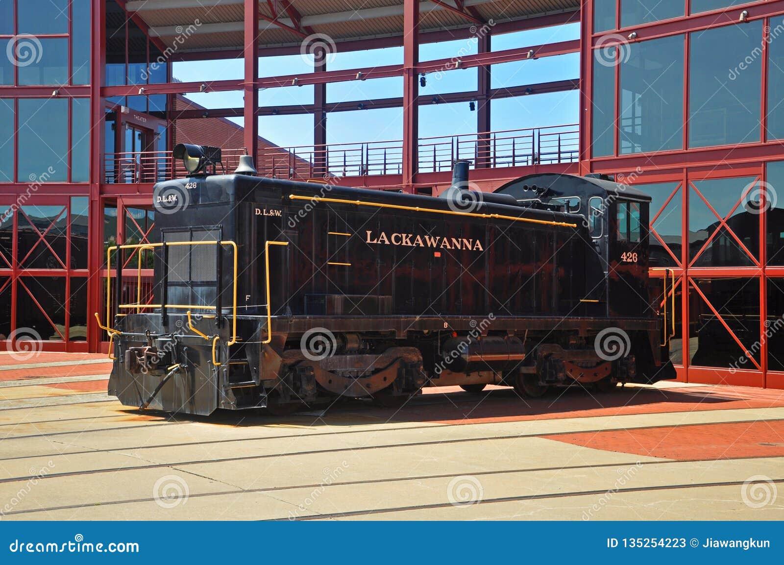 Lokomotiv för Lackawanna järnvägdiesel, Scranton, PA, USA