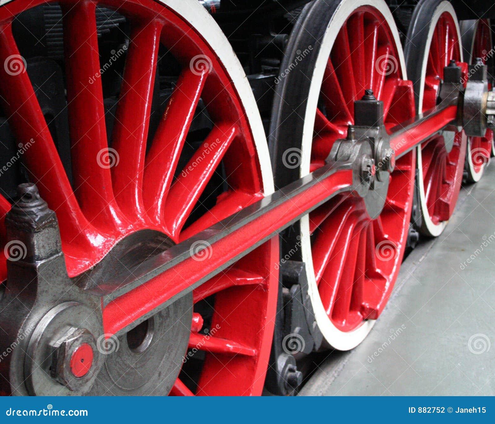 Lokomotoryczni czerwone koła