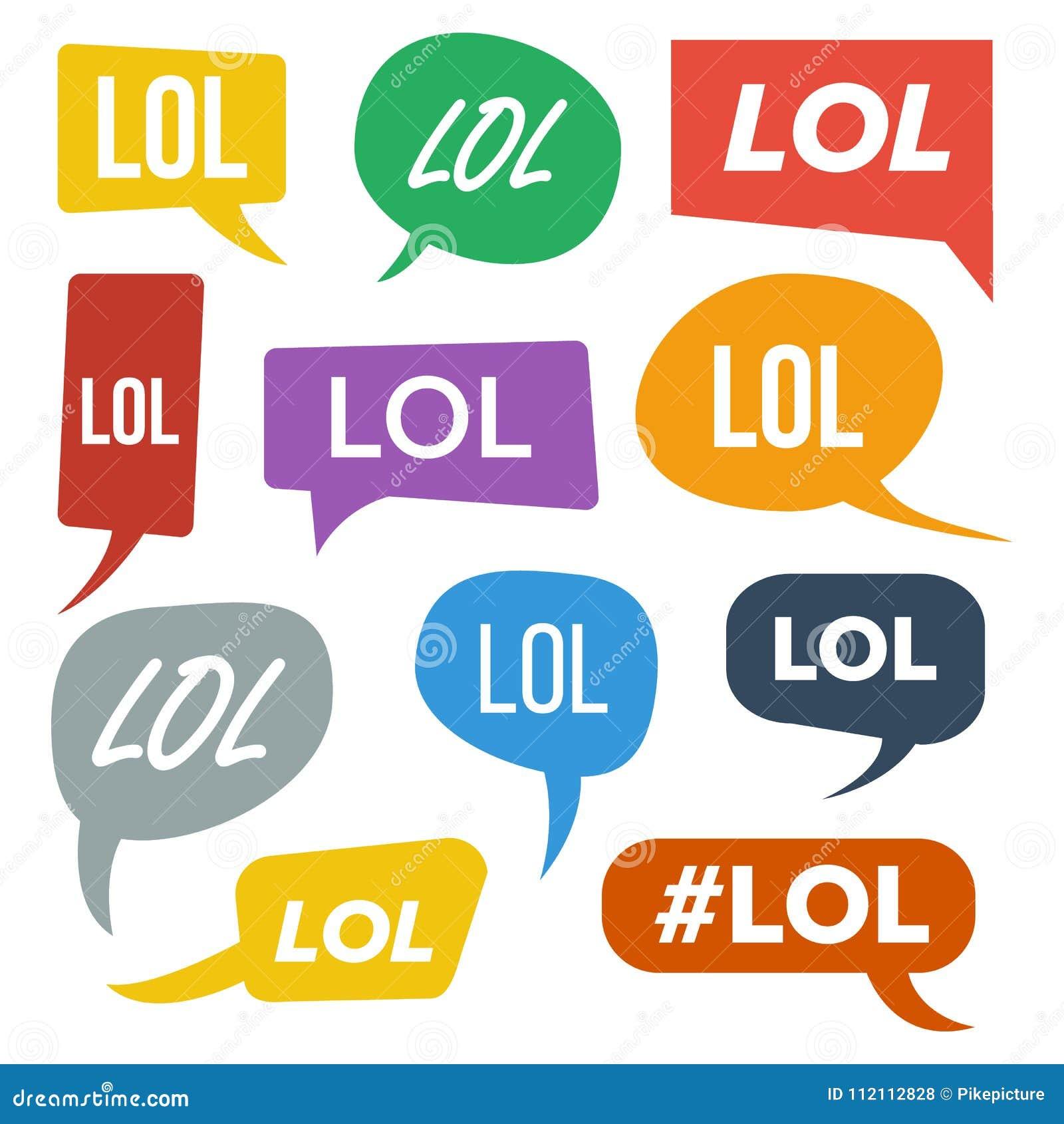 Download lol speech bubbles vector symbole damusement émotion expression du visage expressions lol stickers