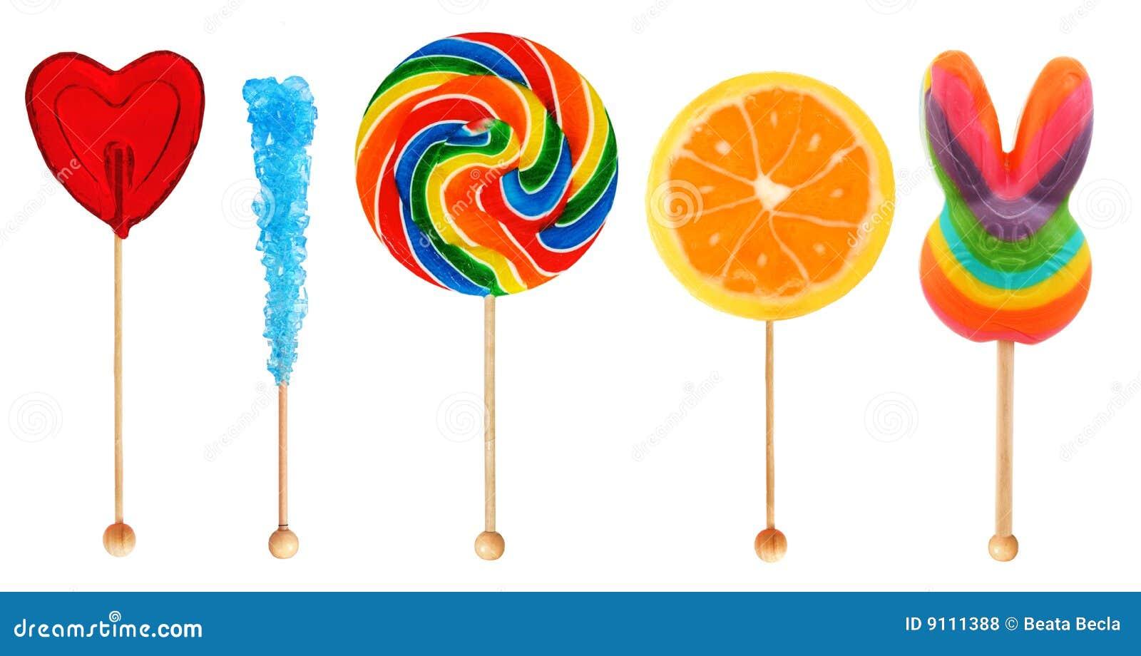 Lolipops - candy on a stick