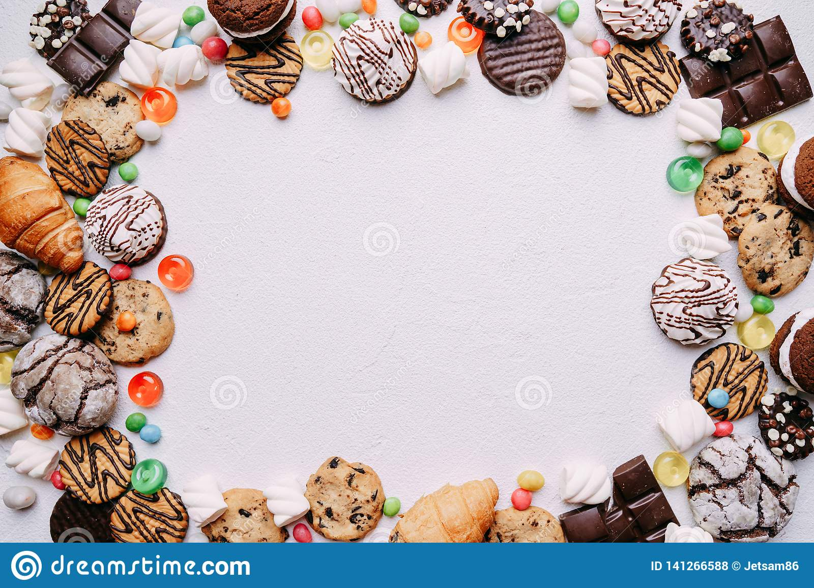 Lollipop candy background, confectionery design