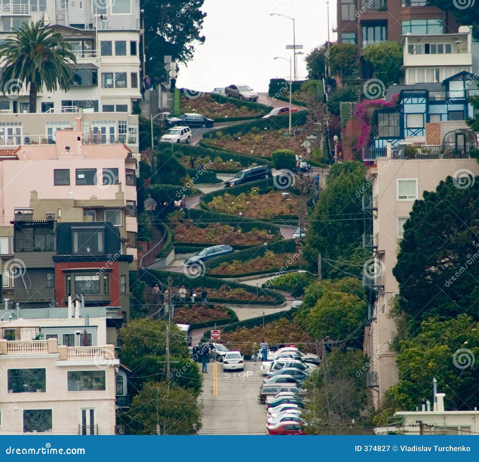 lombardo street view stock image image of california cars 374827. Black Bedroom Furniture Sets. Home Design Ideas