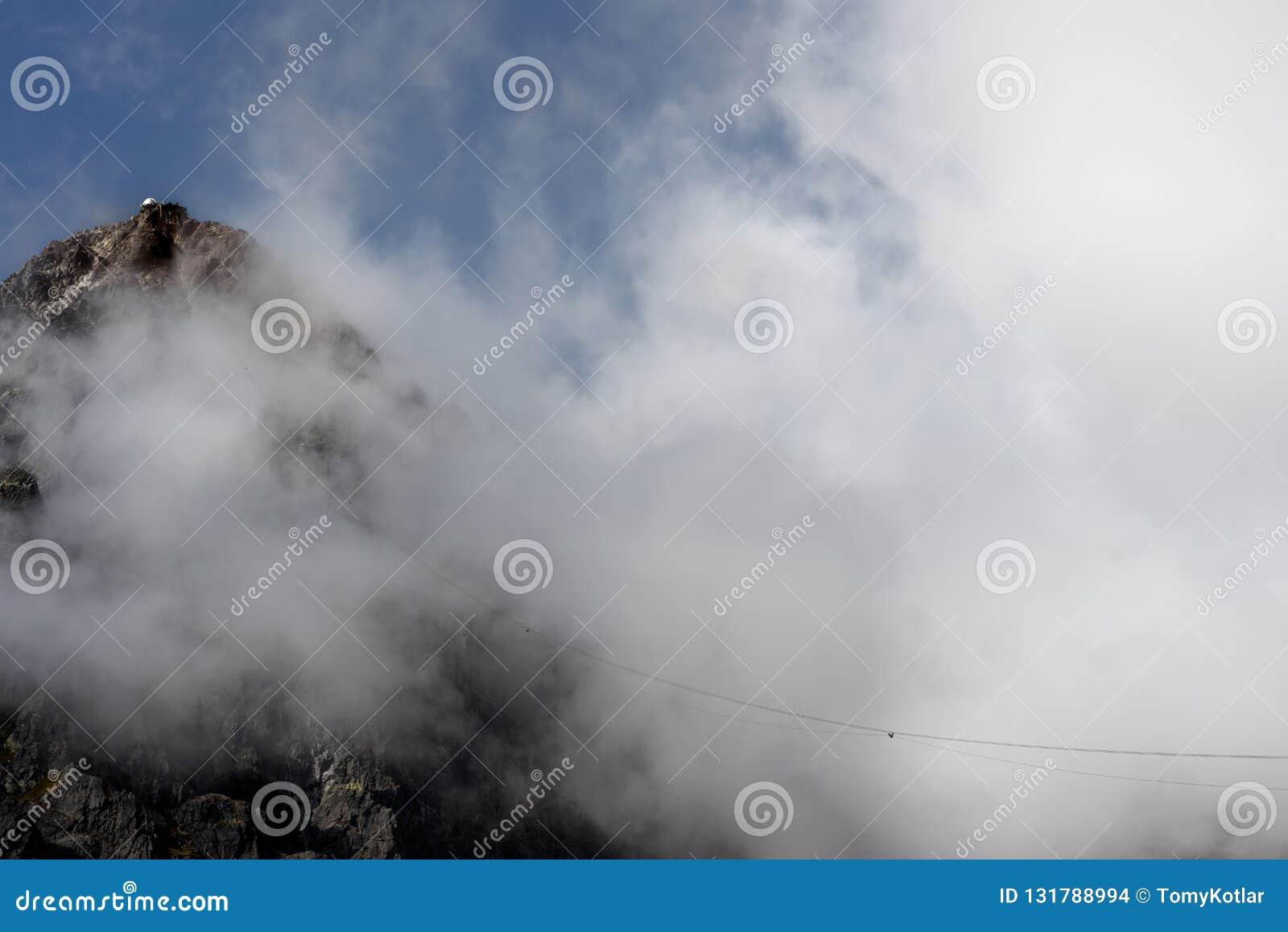 Lomnicky峰顶,Vysoke Tatry,Slovkaia