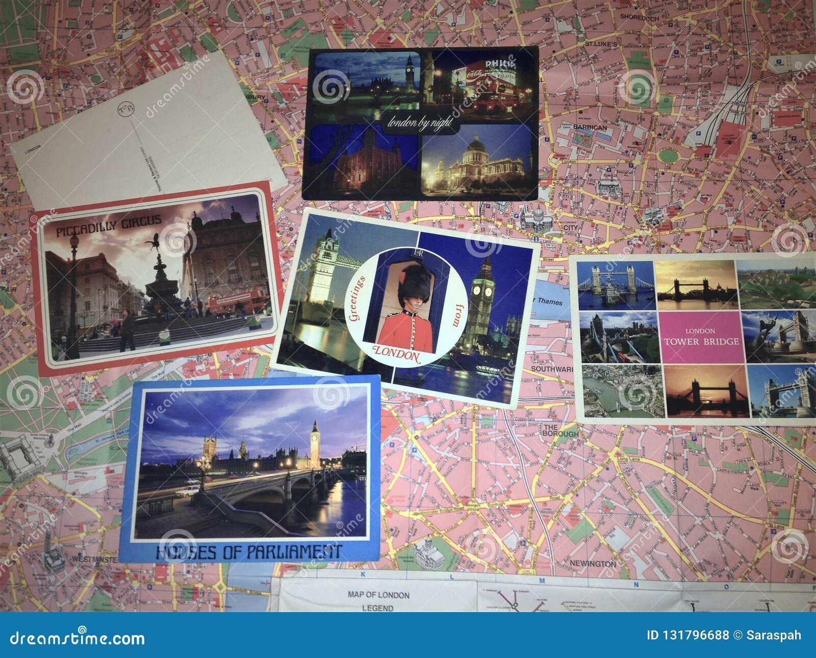 London översikt och gammal vykortcollage