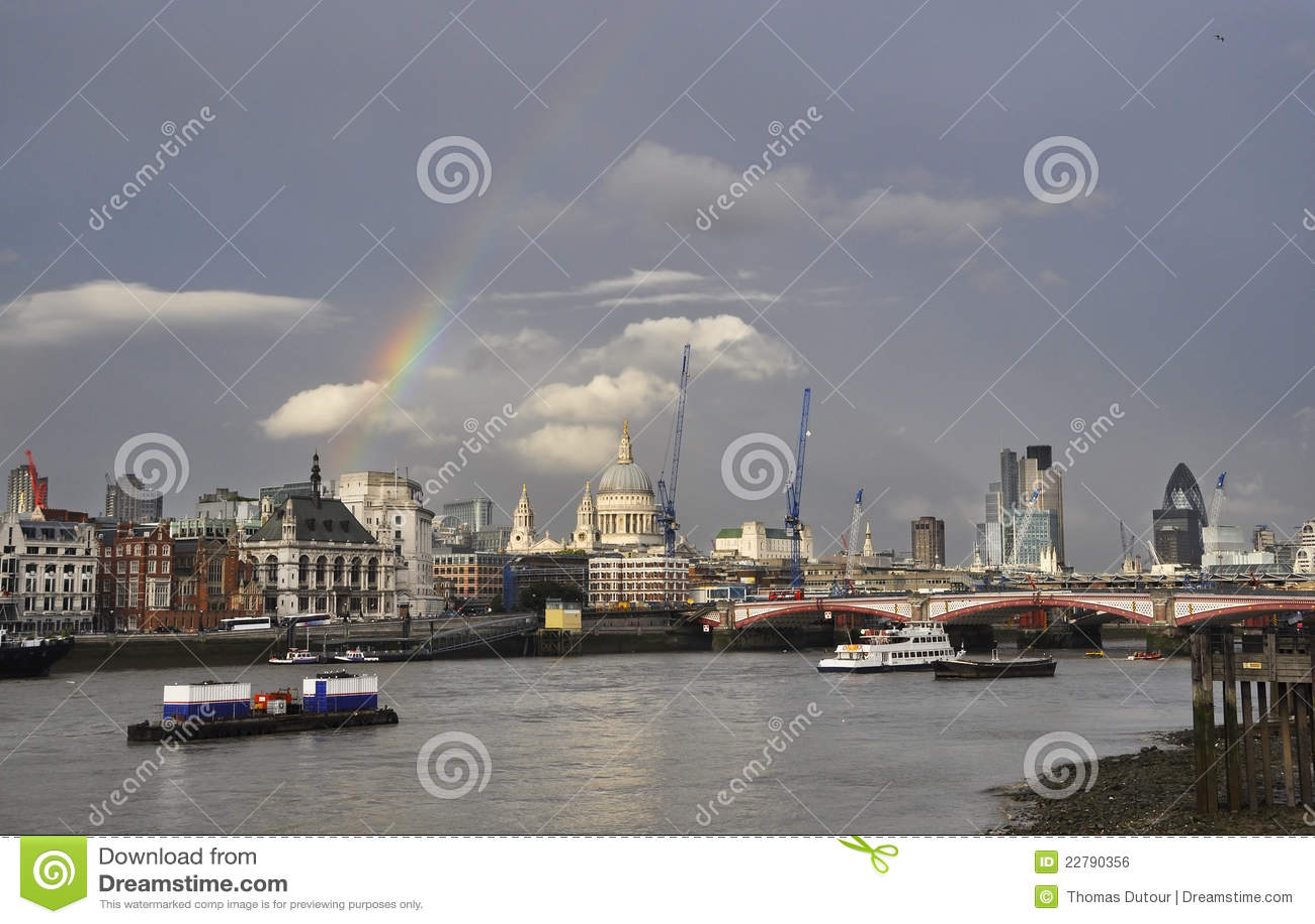 London над радугой