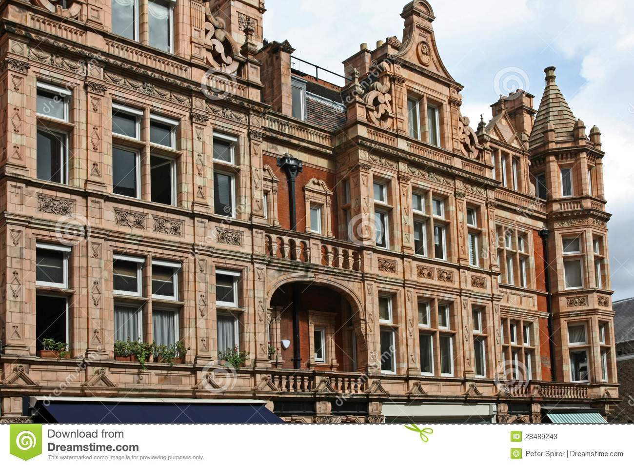 London Apartment Building In Mayfair Stock Image - Image ...