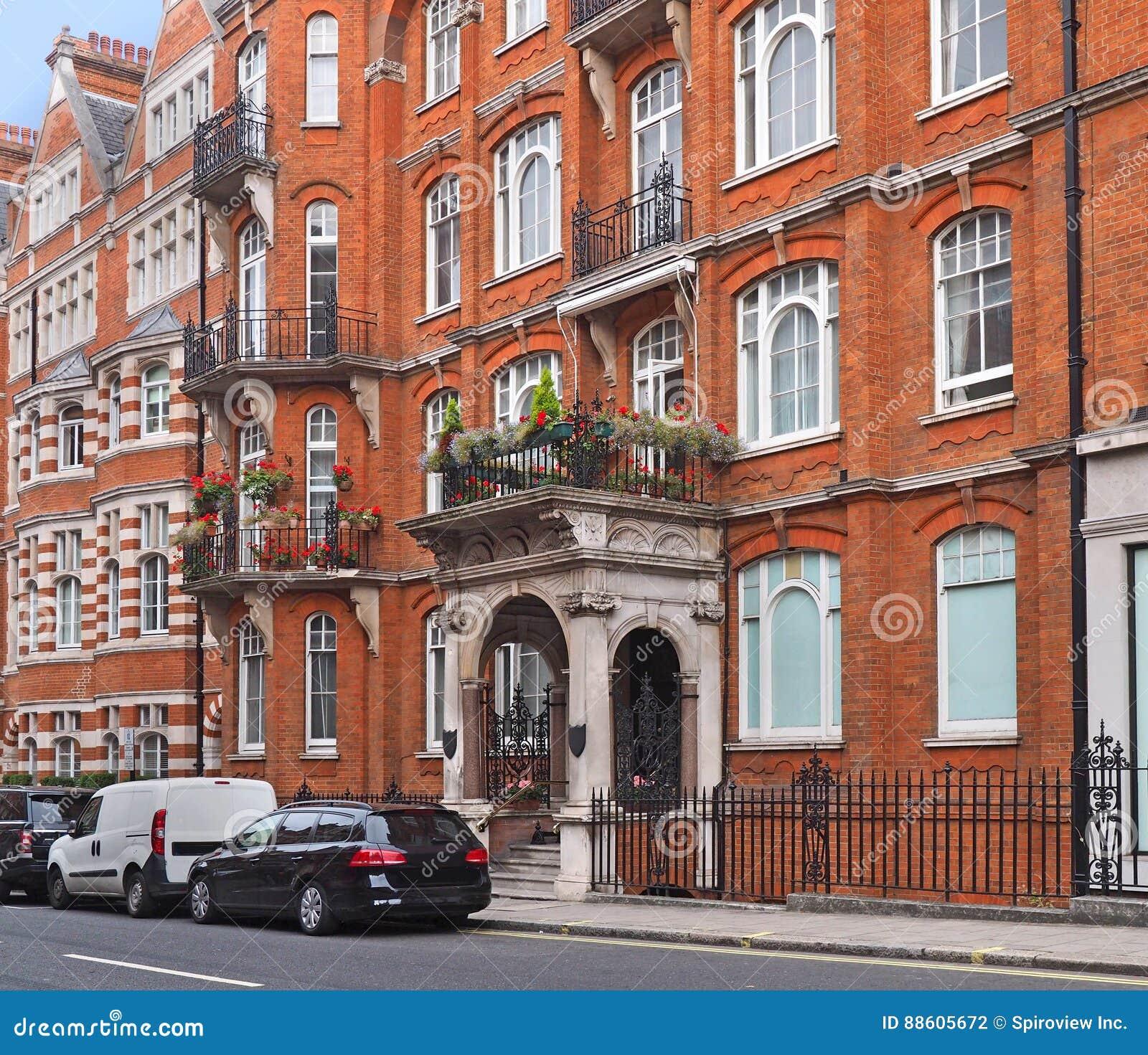 London apartment buildings stock photo. Image of london - 88605672