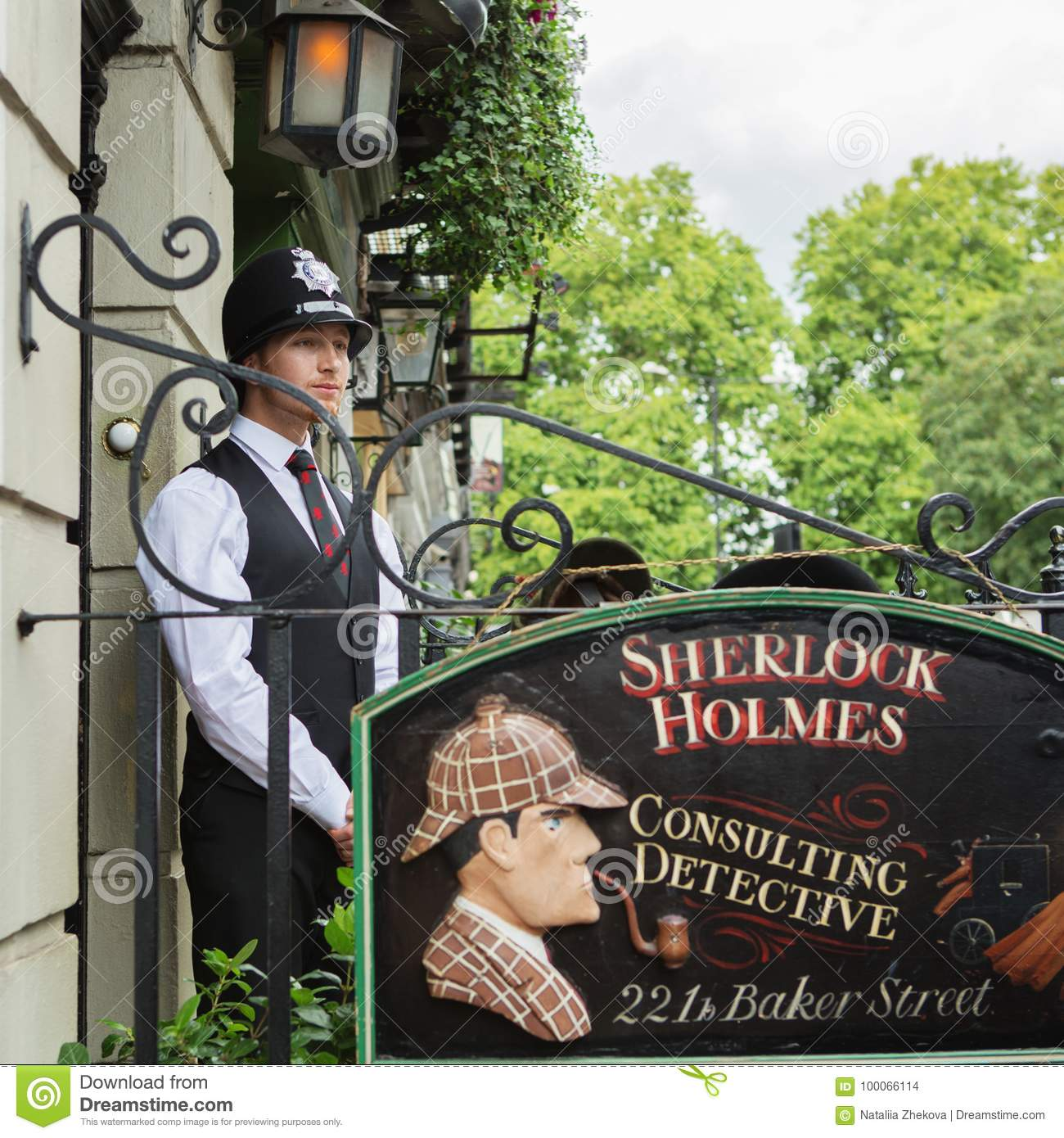 LONDON - AUGUST 24, 2017: The Sherlock Holmes museum is located