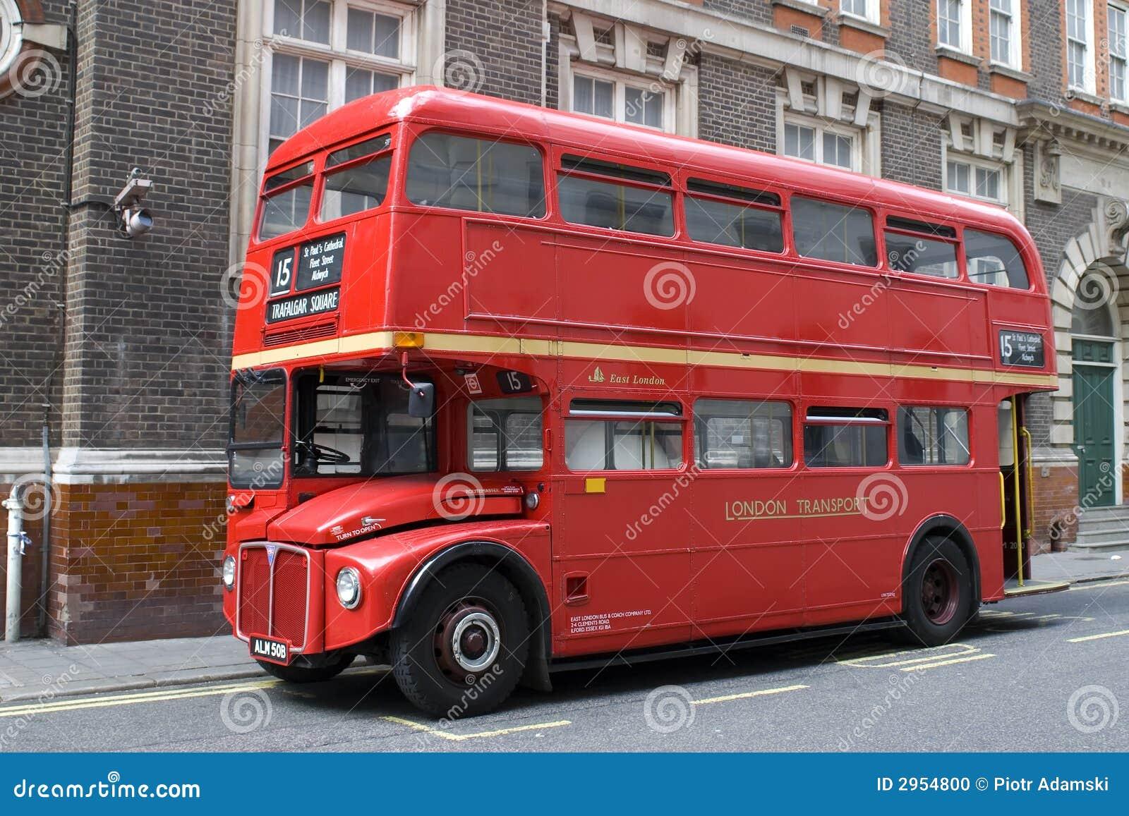 London autobusowa czerwony