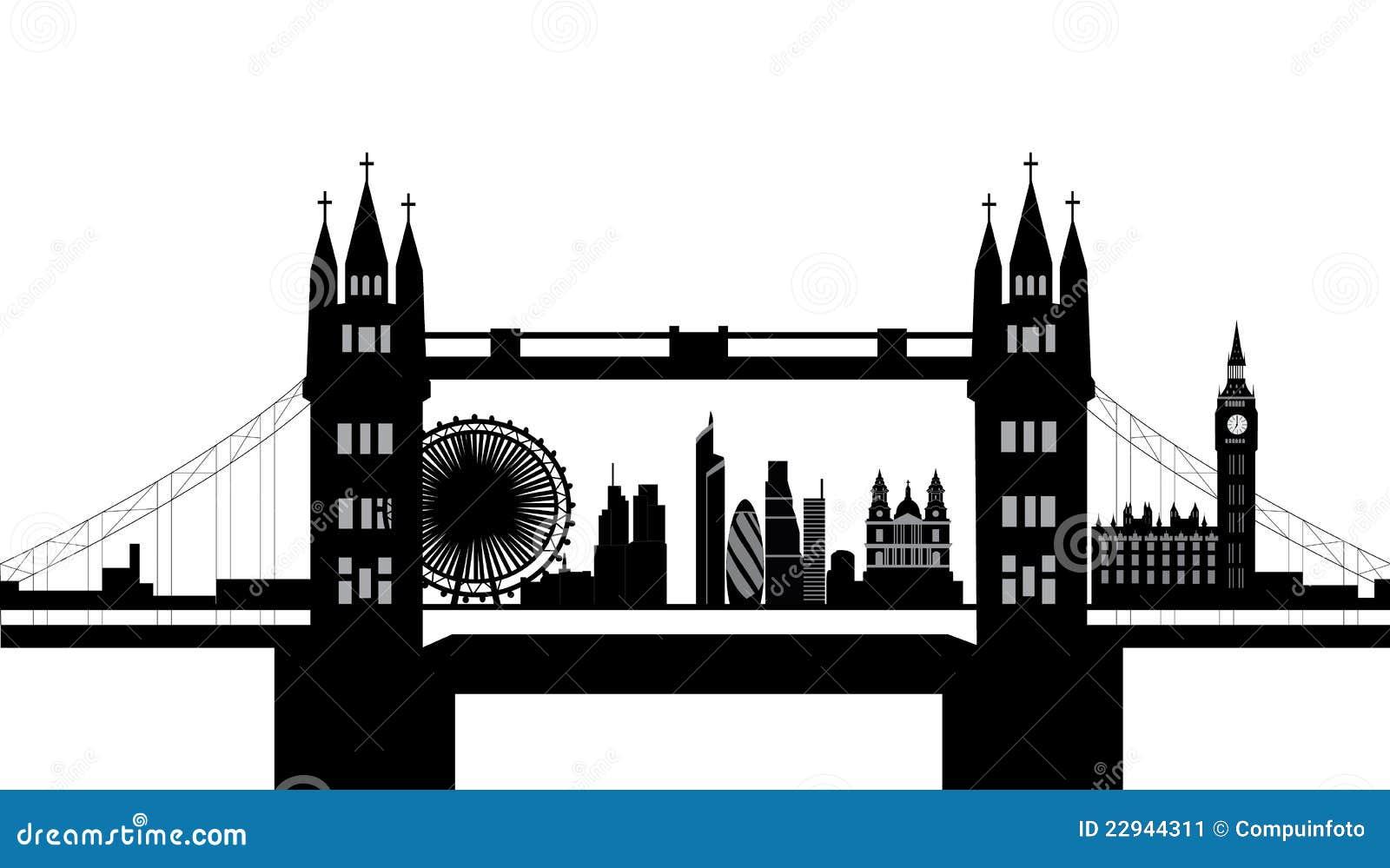 London Bridge Skyline Stock Image Image 22944311