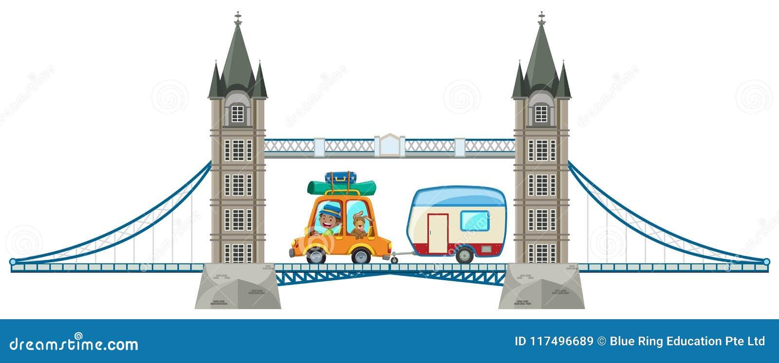 A London Bridge On White Background Stock Vector Illustration Of