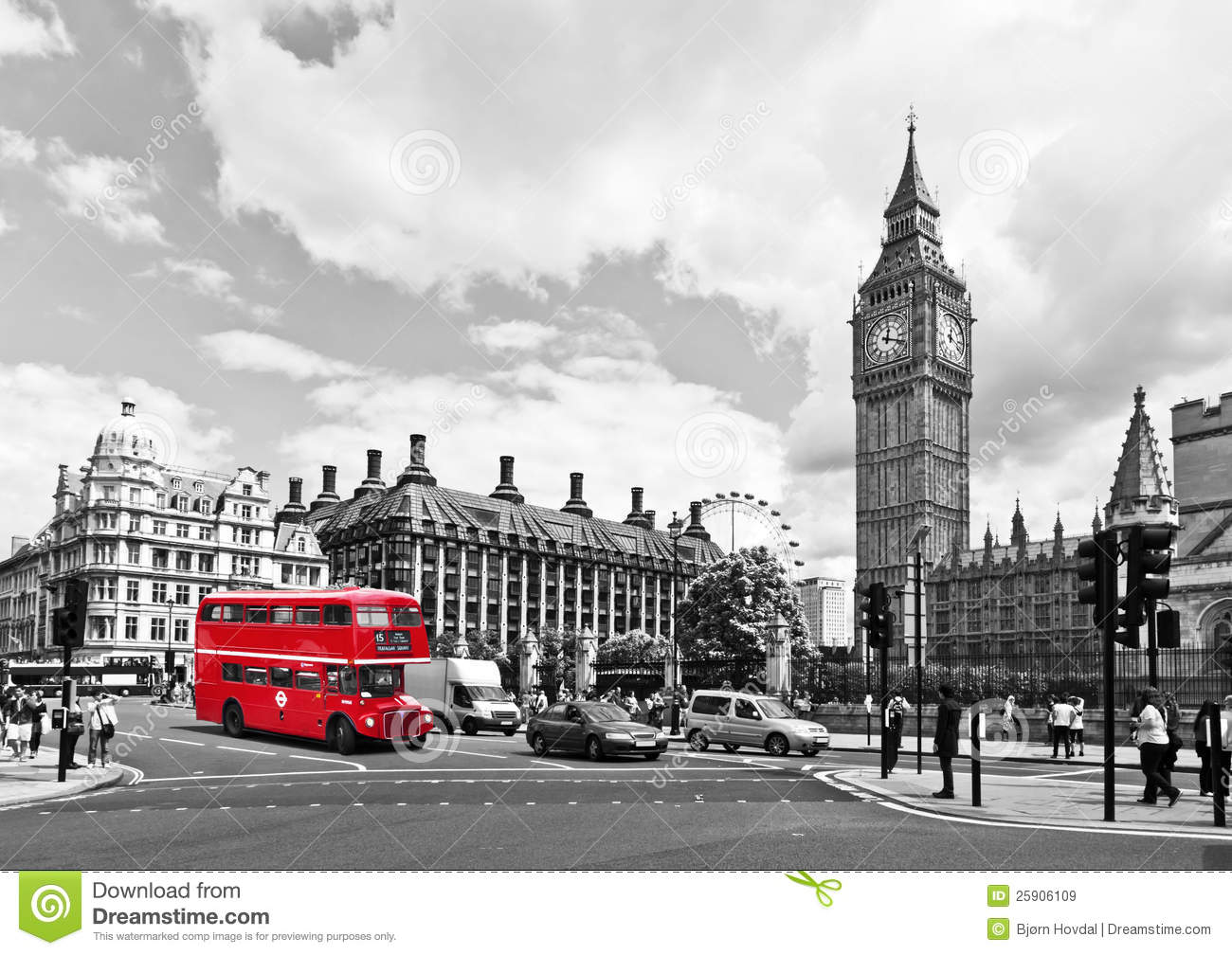London bus editorial stock image image of famous square for Time square londra