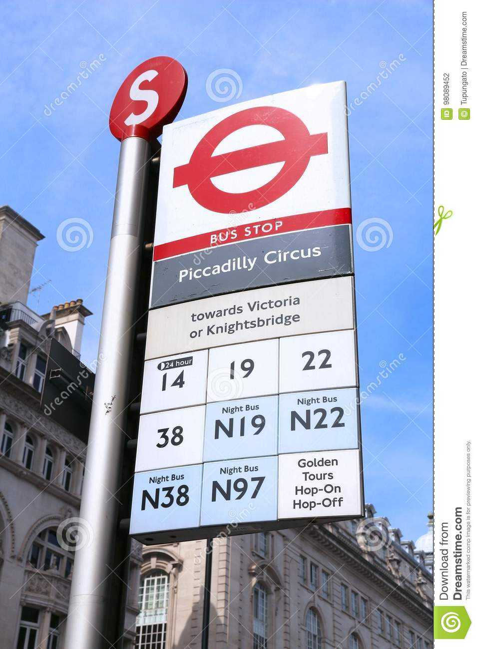 london-bus-stop-uk-july-sign-piccadilly-