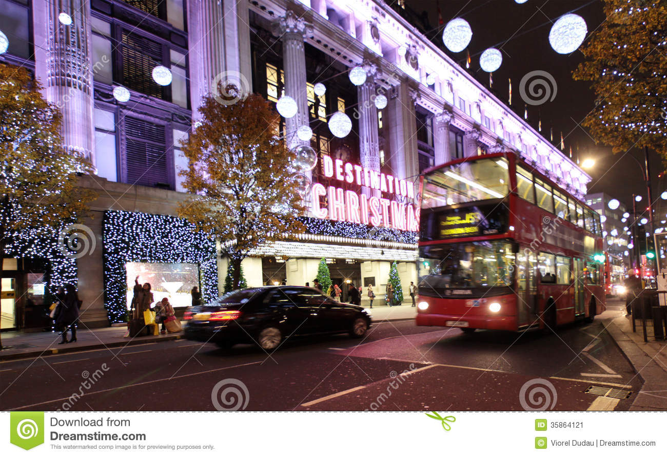 Christmas Decorations Johnston Street : London christmas lights editorial photo image