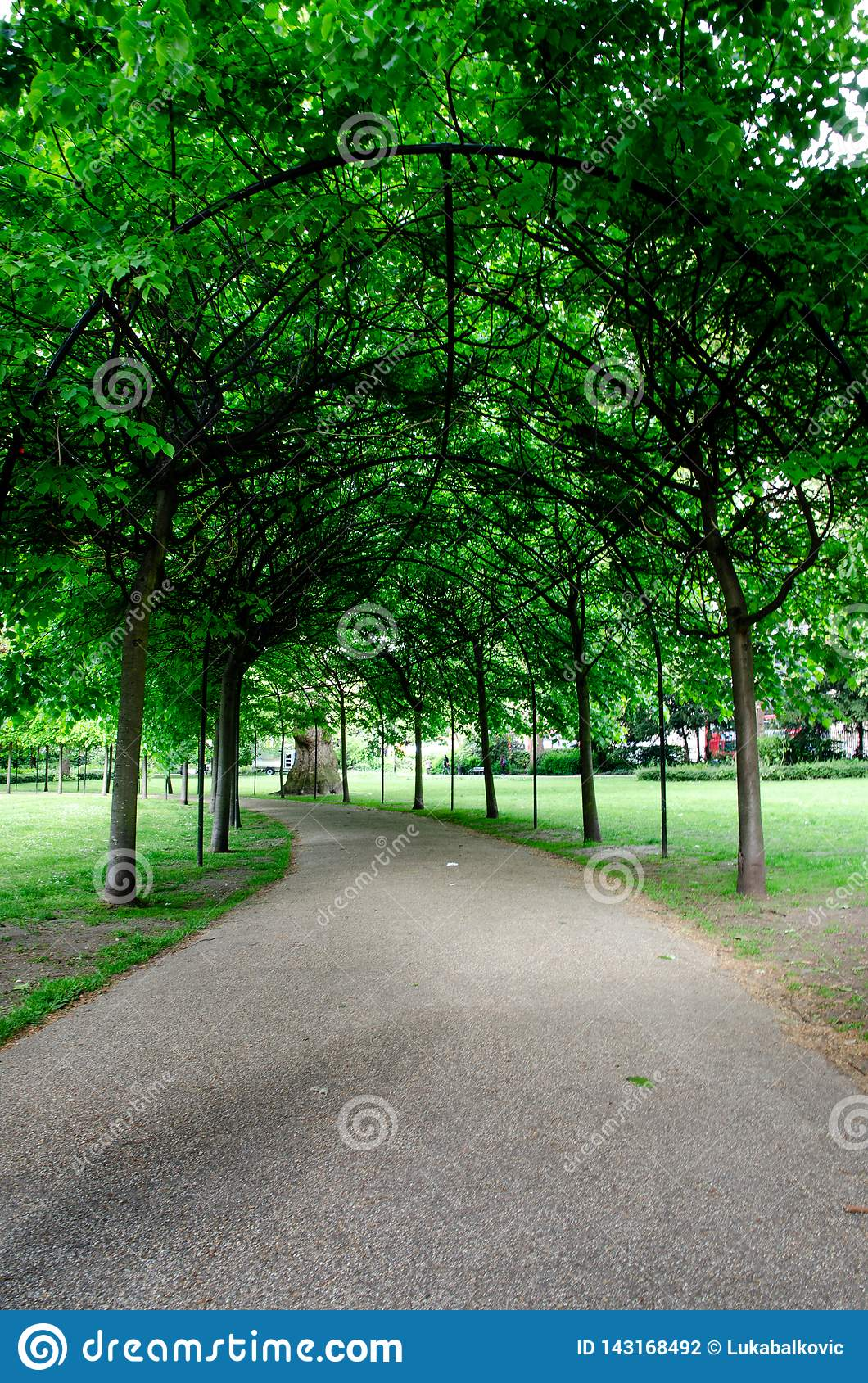 London city / England: Alley in Russell Square park
