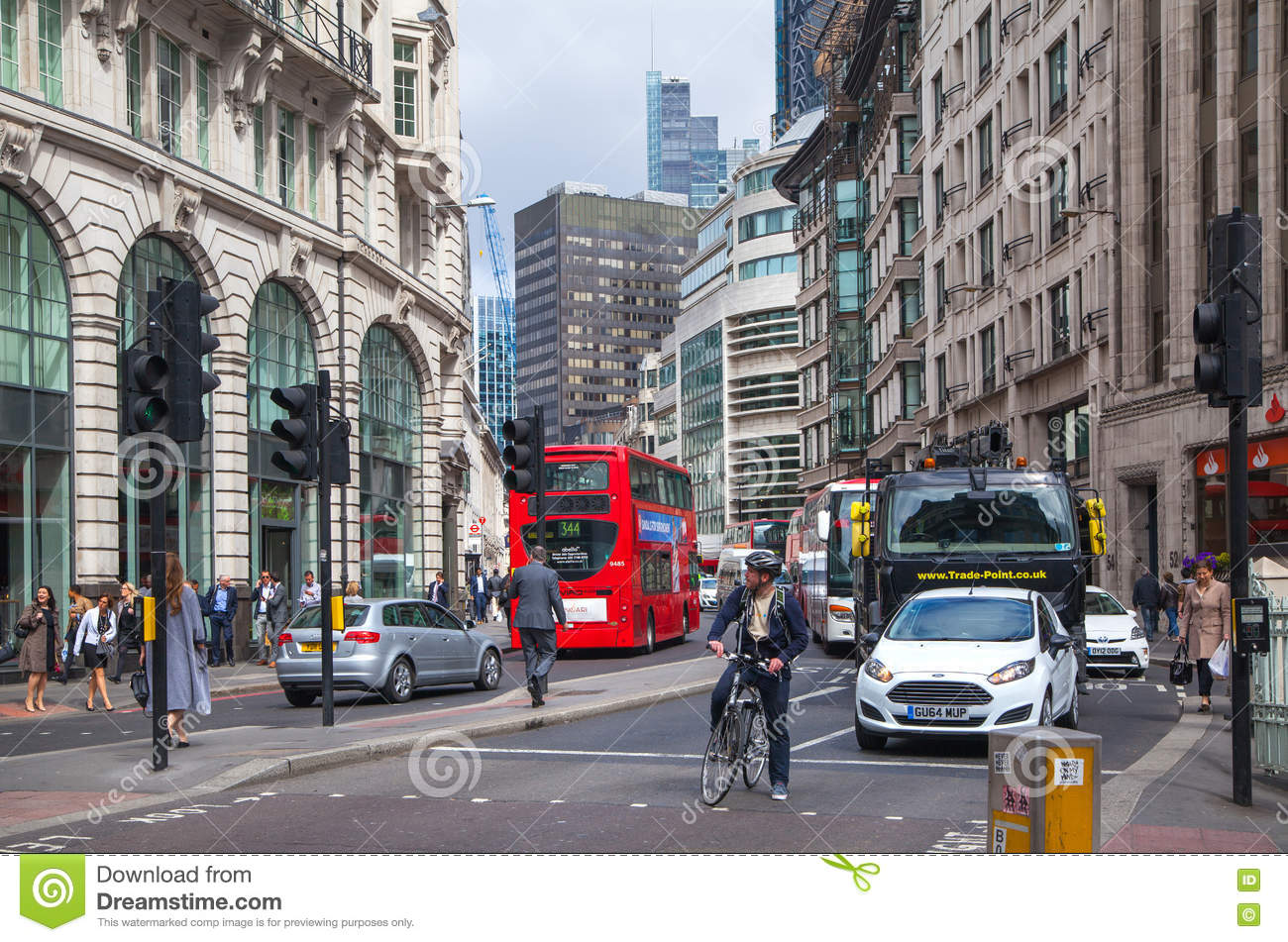 LONDON City Of London Street View Editorial Stock Image Image