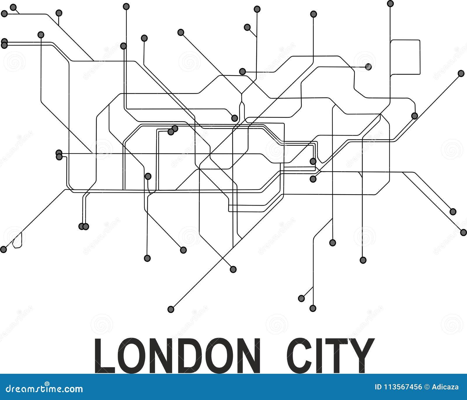 London City Map Stock Vector Illustration Of City Station 113567456
