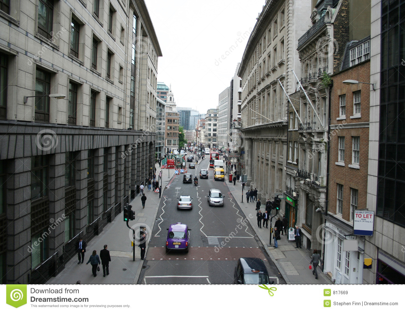 London City Street Royalty Free Stock Images Image 817669