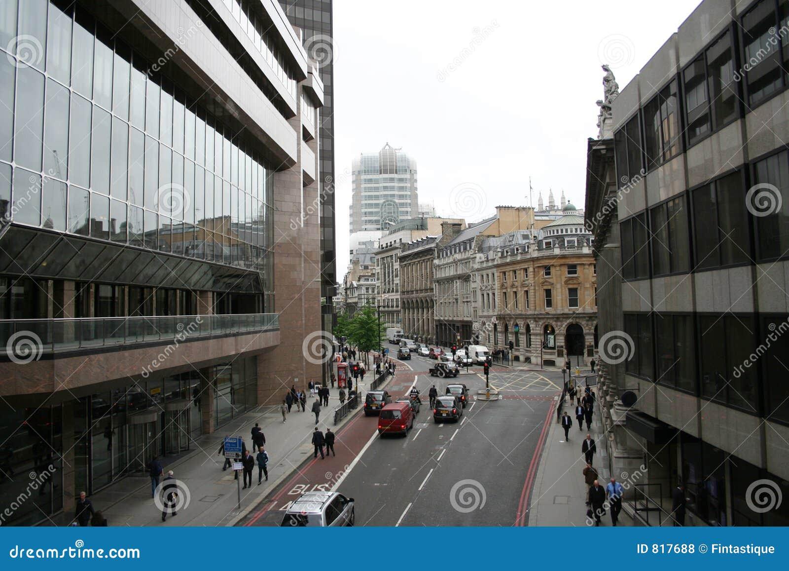 London City Street Royalty Free Stock Photos Image 817688