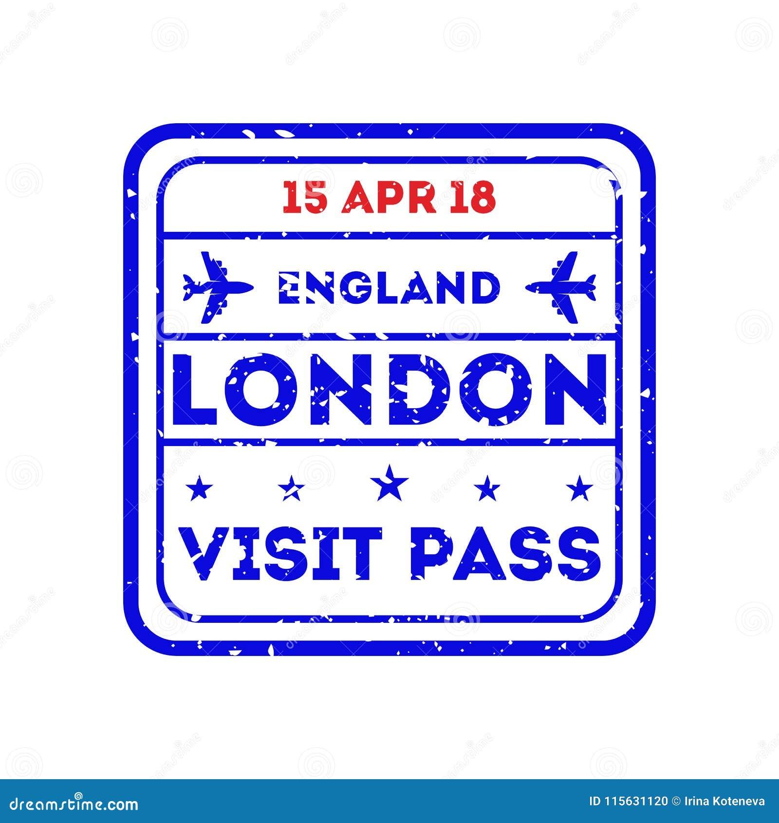 London City Visa Stamp On Passport Stock Vector Illustration Of