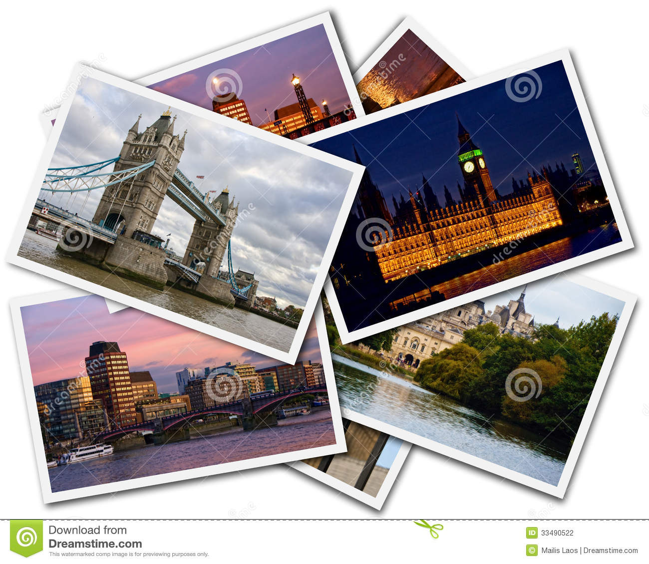 Download London Collage stock photo. Image of britain, thames - 33490522