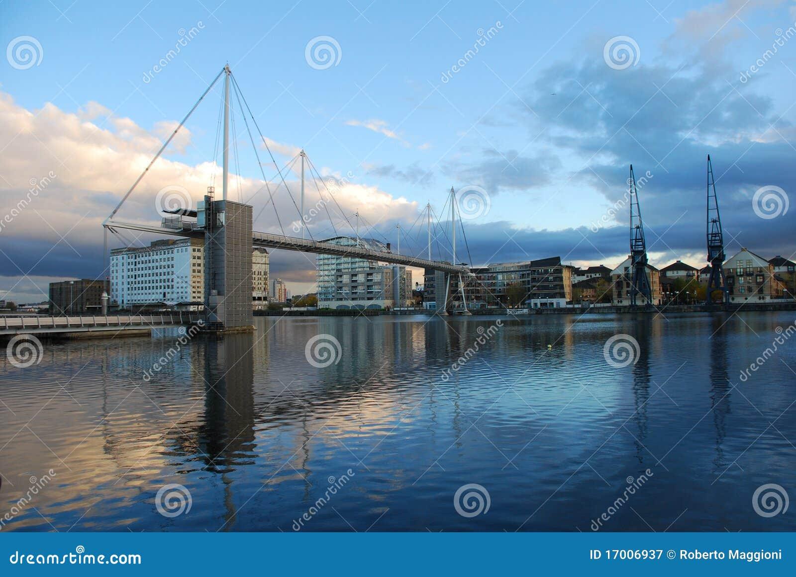 Royal Victoria Dock Bridge London Docklands Stock Image