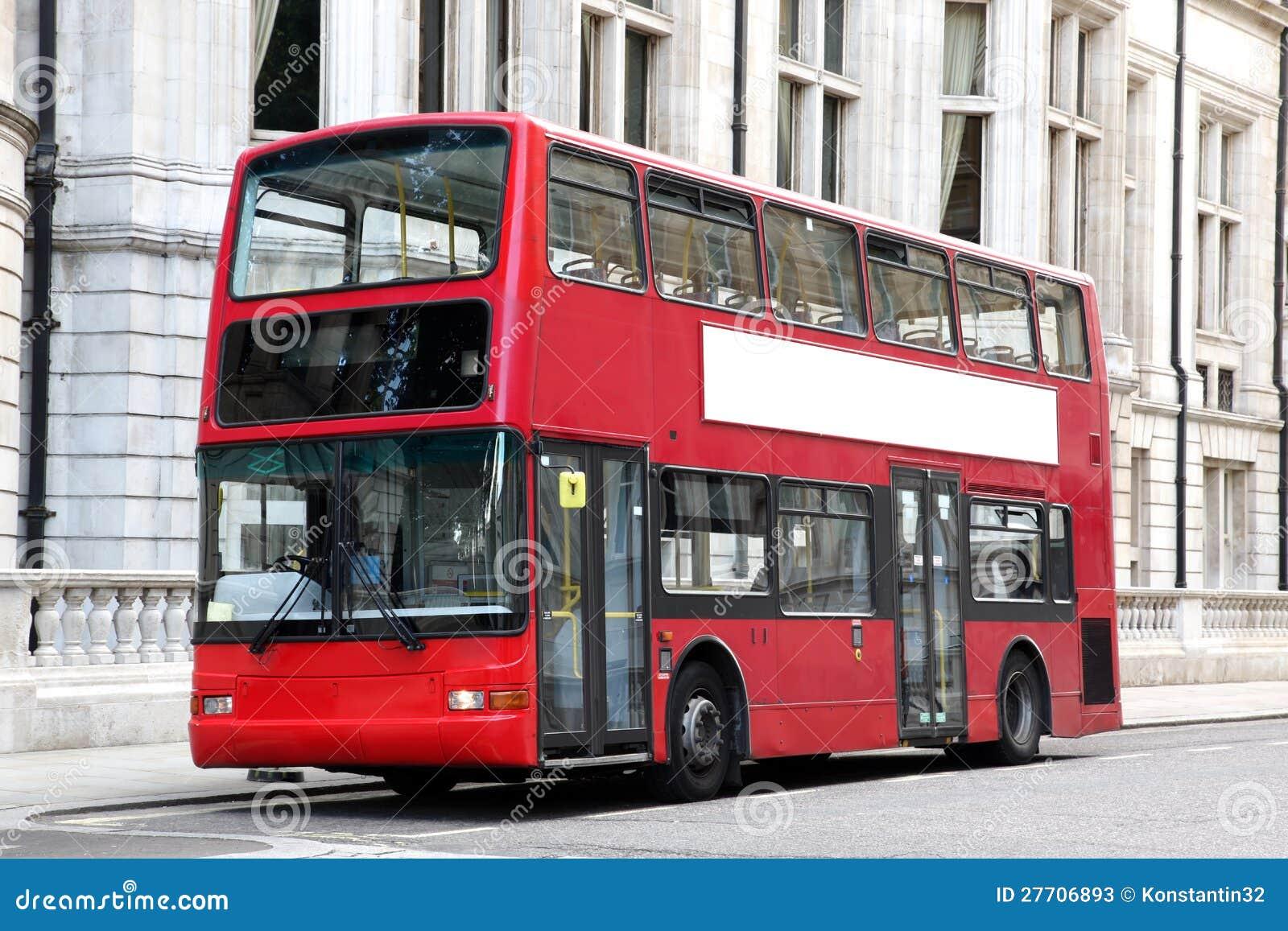 london double decker red bus stock photos