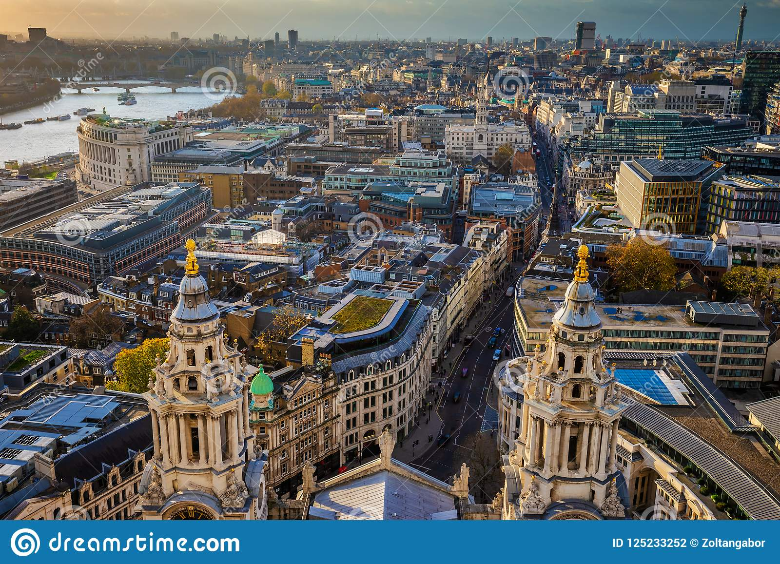 London, England - Aerial Skyline View Of London Taken From ...