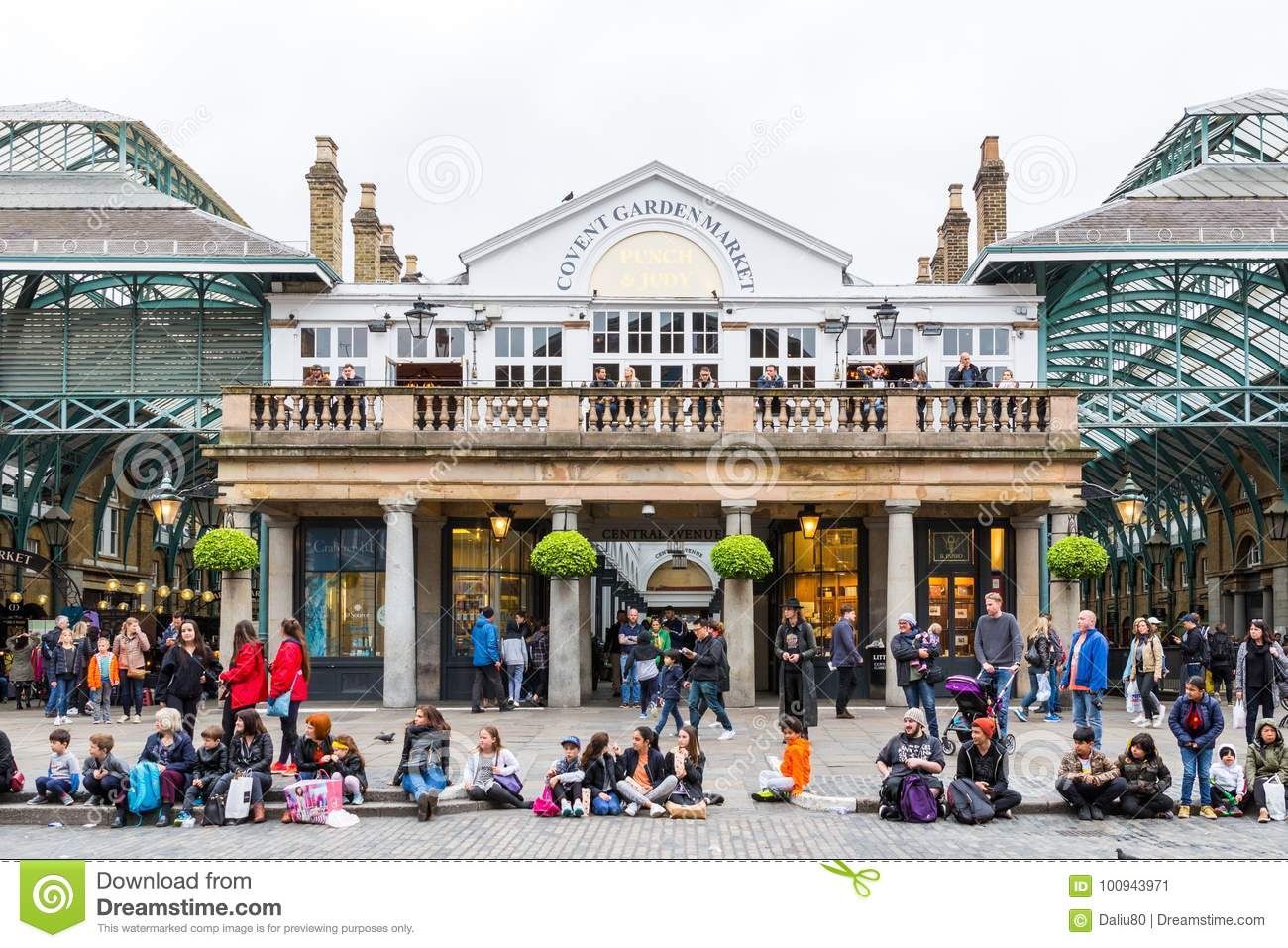 London, England - April 4, 2017: Covent Garden market, one of th