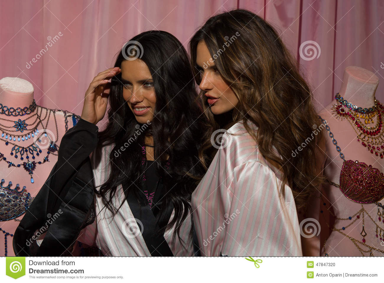 LONDON, ENGLAND - DECEMBER 02: Adriana Lima(L) And