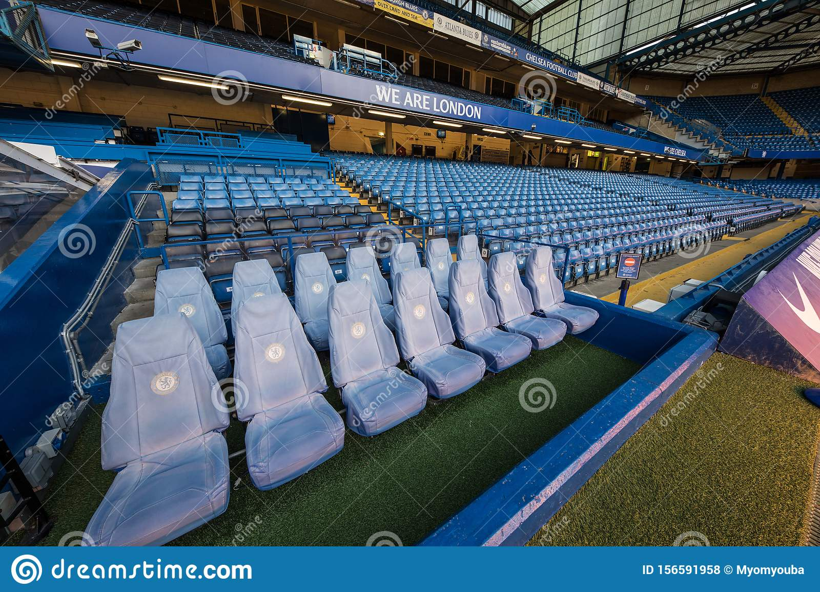 Visiting Stamford Bridge The Official Stadium Of Chelsea Fc Editorial Stock Photo Image Of Premierleague Chelsea 156591958