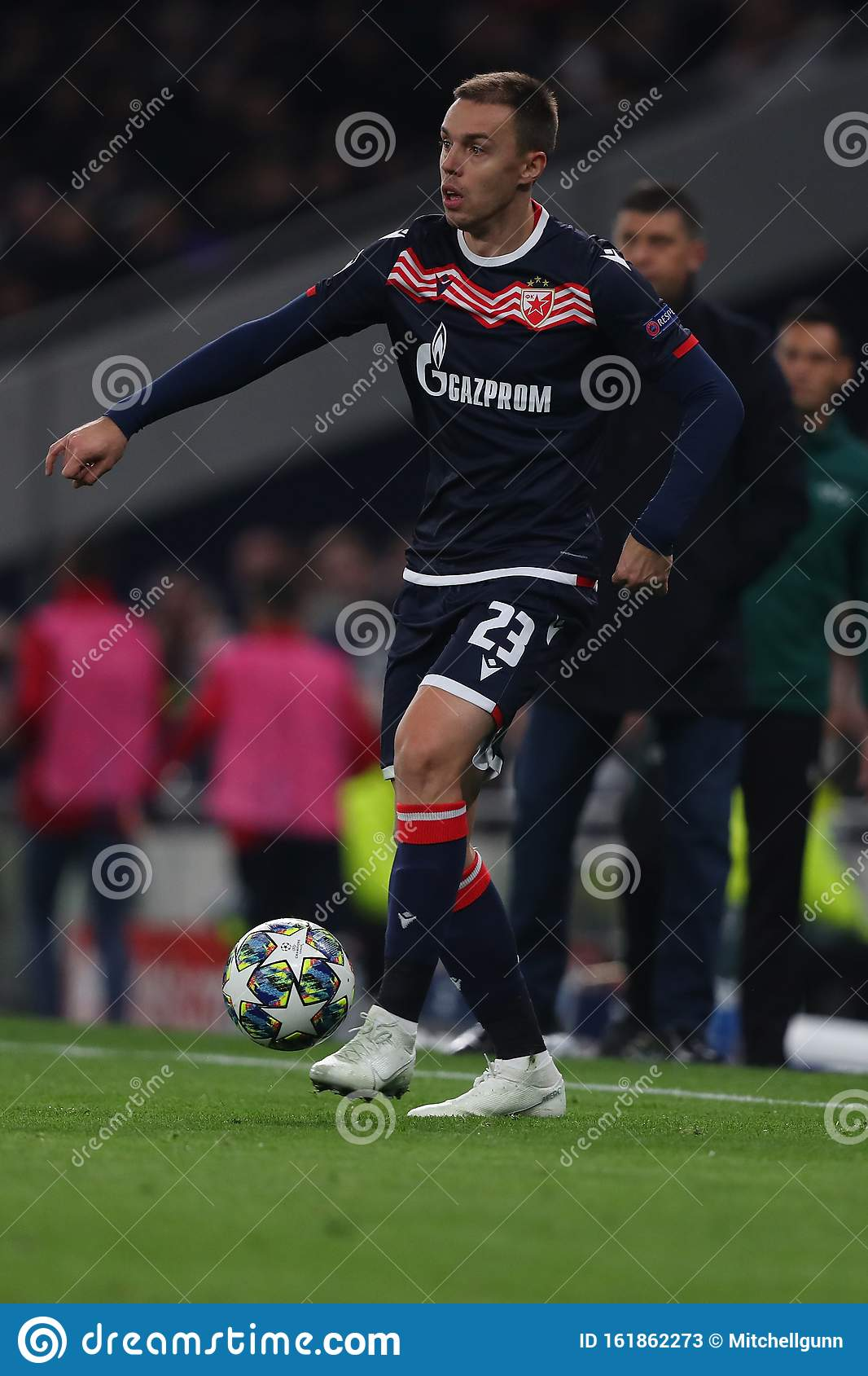 tottenham hotspur v red star belgrade uefa champions league group b tottenham hotspur stadium london england editorial stock photo image of boots kick 161862273 dreamstime com
