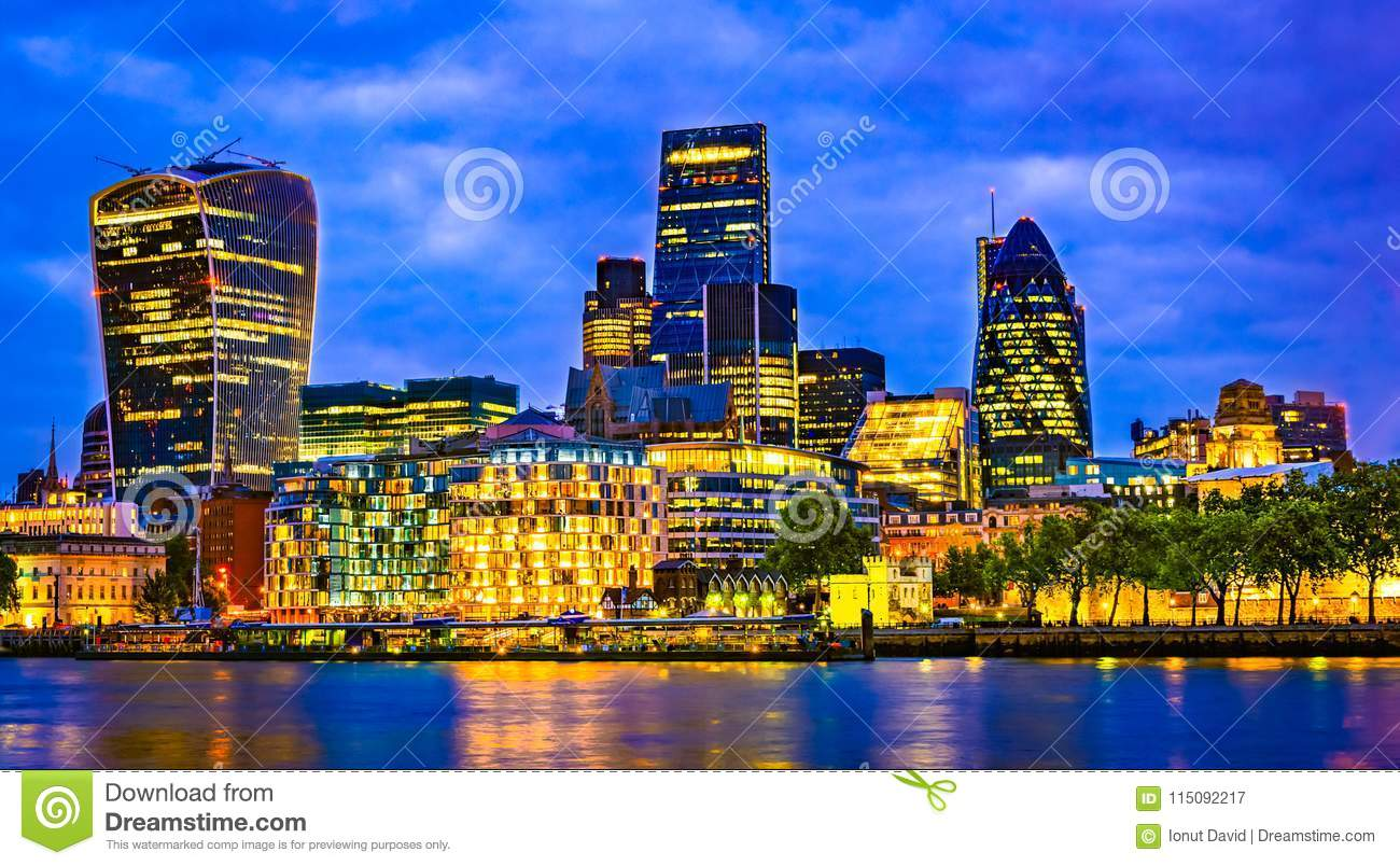 London, Great Britain, UK: Cityscape around Southwark, Thames river