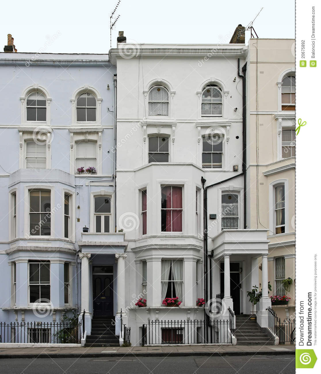 London houses stock photography image 20675892 for Victorian traditional homes