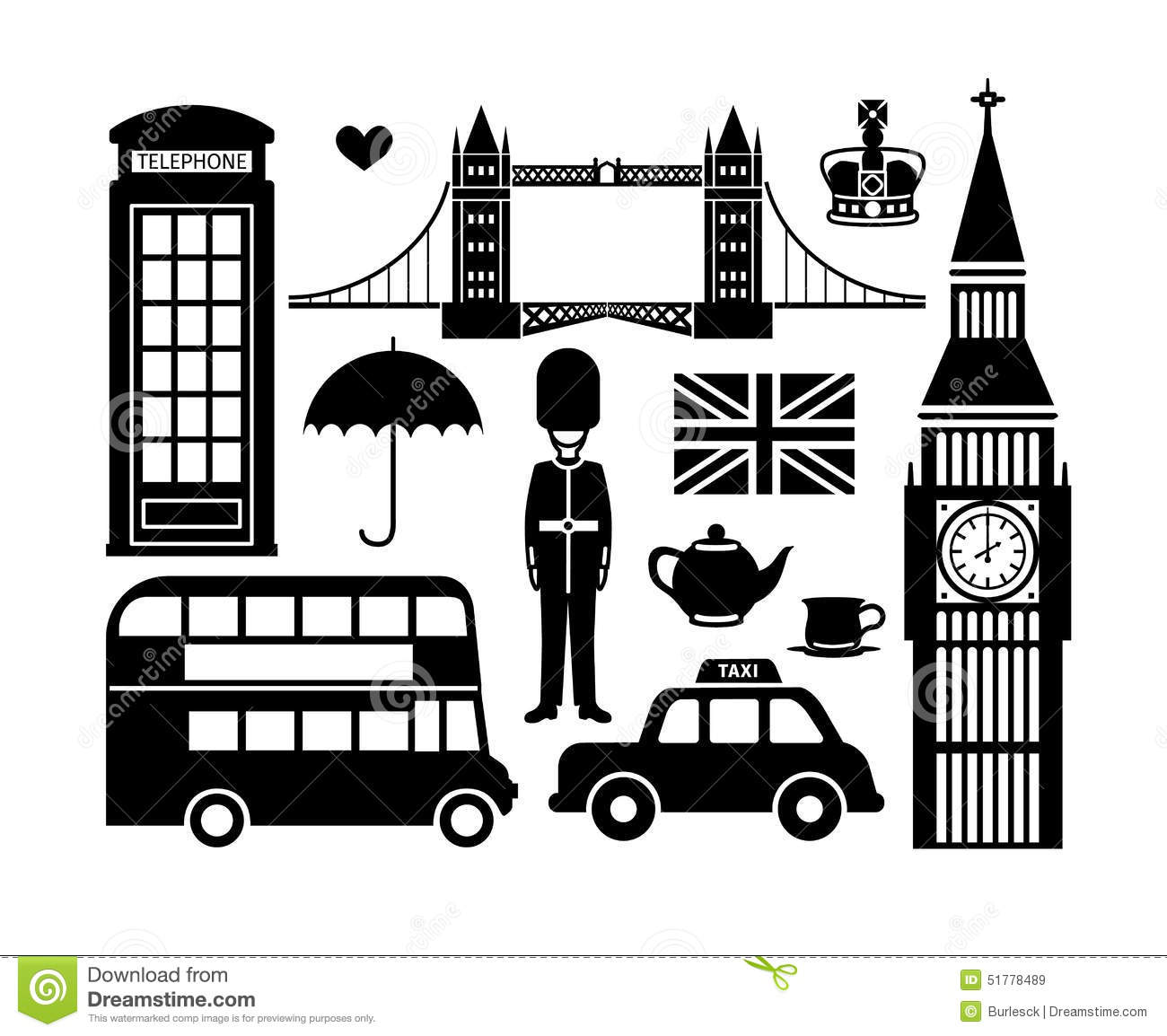 London Icons Stock Vector Image 51778489