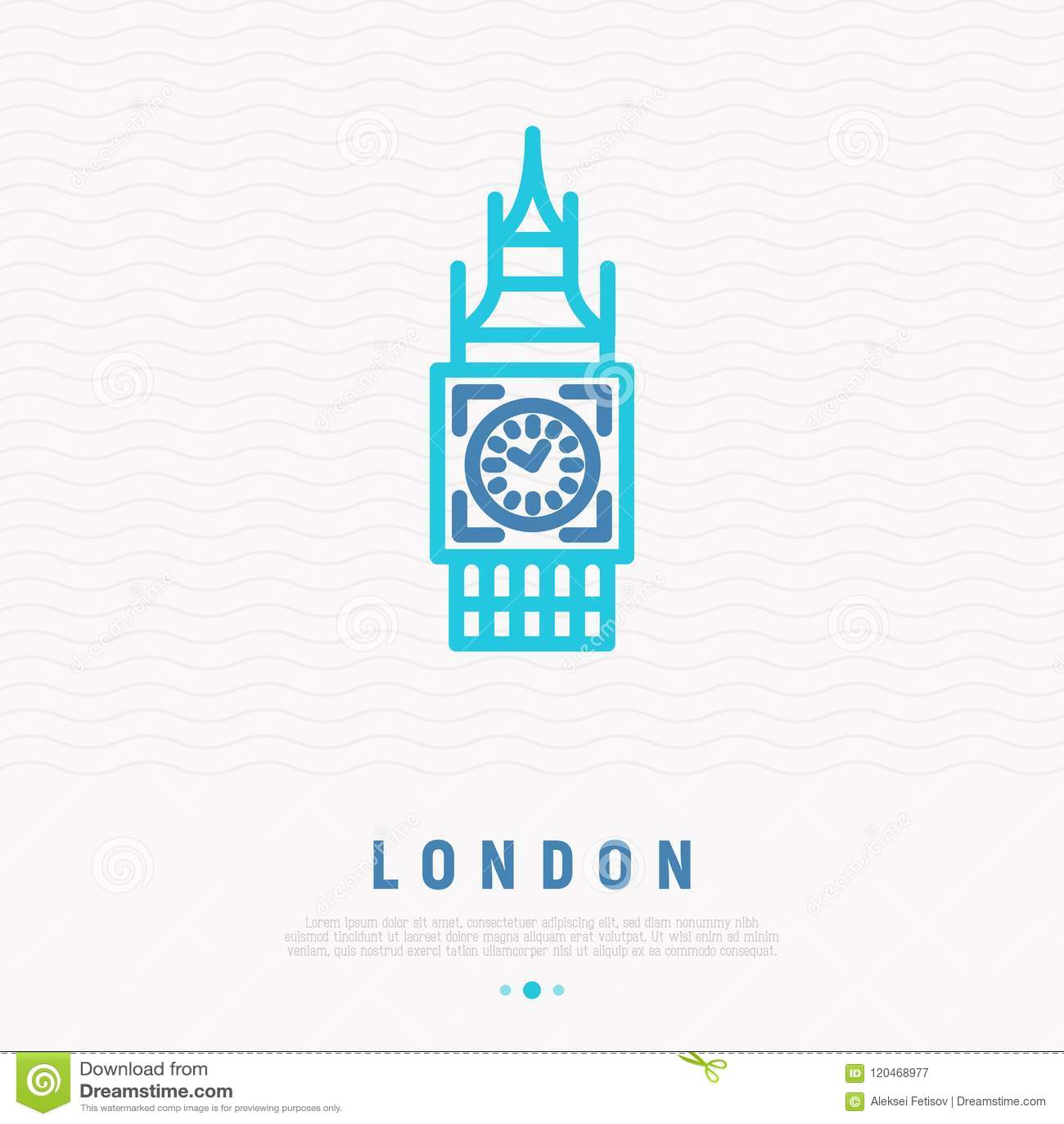 London landmark thin line icon