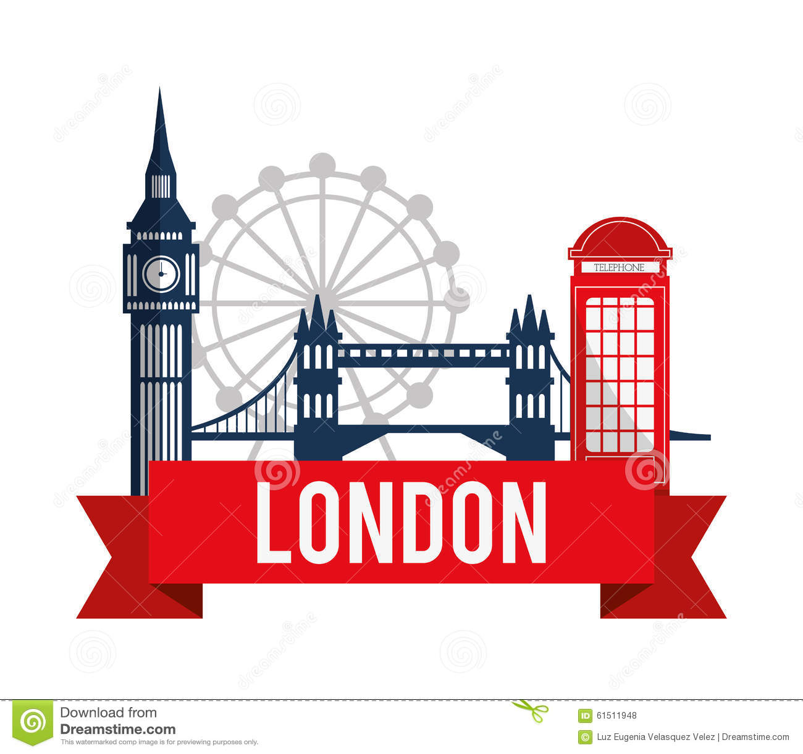 London landmarks design stock vector illustration of for Design bridge london
