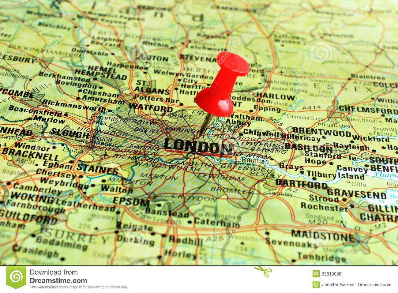 Map Pin In A Map Free Vector Instantshift Beautiful Free: London On Map With Pointer Stock Photo