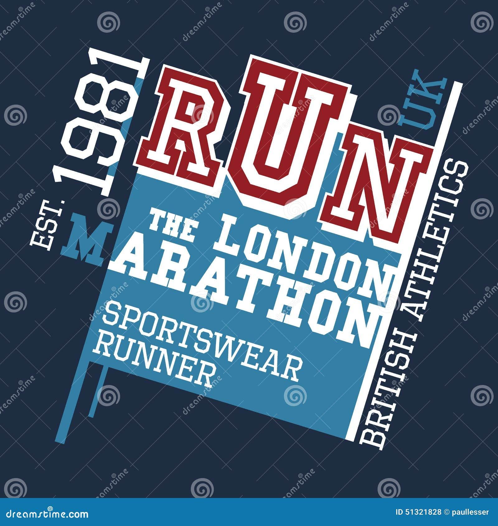 Shirt design london - London Marathon T Shirt Design Royalty Free Stock Photos