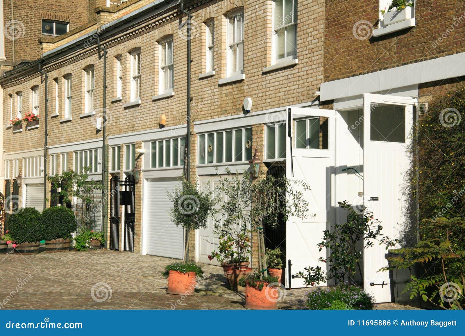 london mews houses royalty free stock image image 11695886. Black Bedroom Furniture Sets. Home Design Ideas
