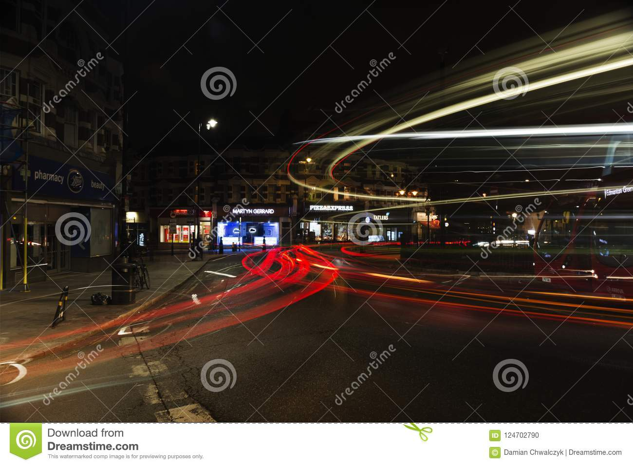 London By Night Muswell Hill Editorial Image Image Of