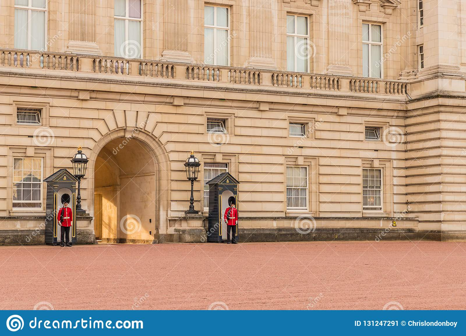 A typical view at Buckingham Palace