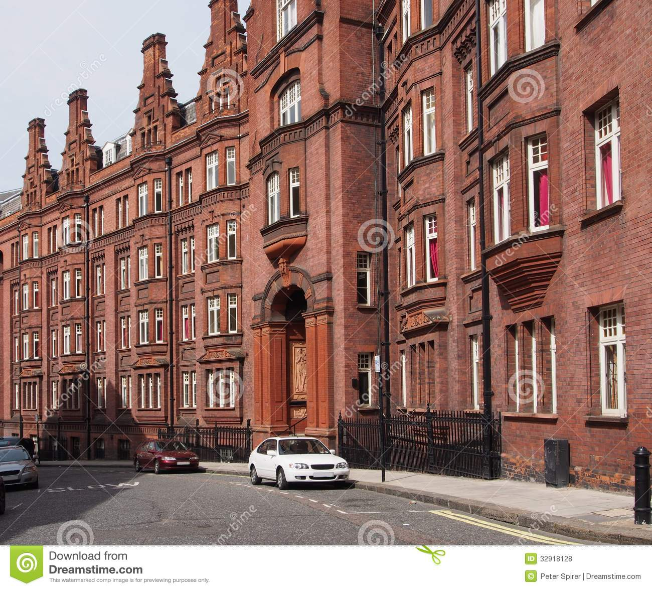 Old Apartment: London, Old Apartment Building Royalty Free Stock Photos