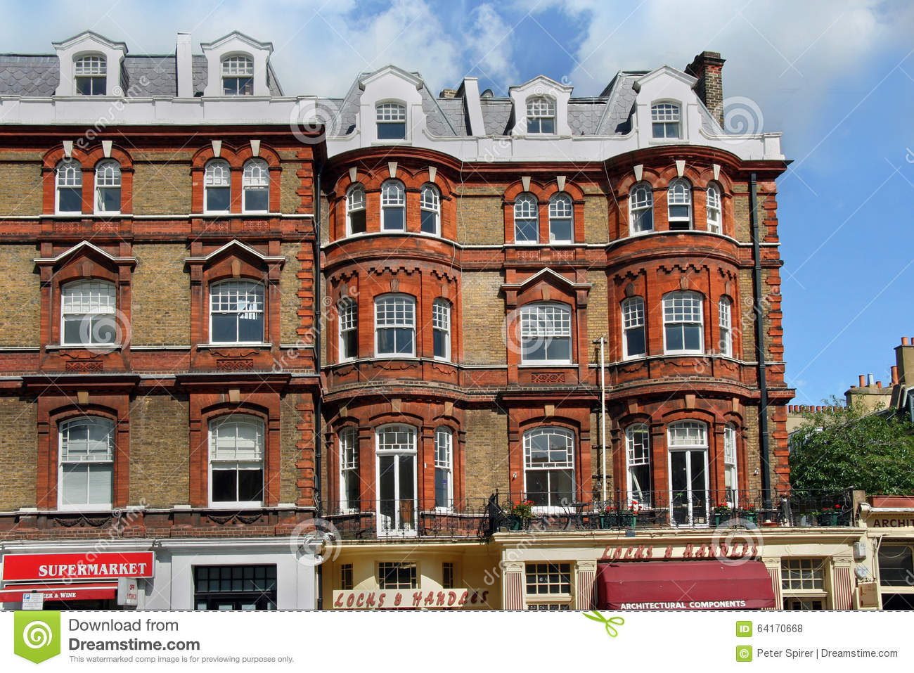 London, Old Fashioned Apartment Building