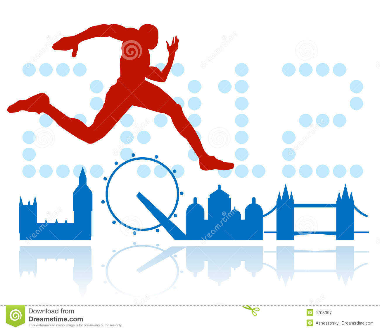 Download London Olympic Games Design Stock Vector - Illustration of background, london: 9705397