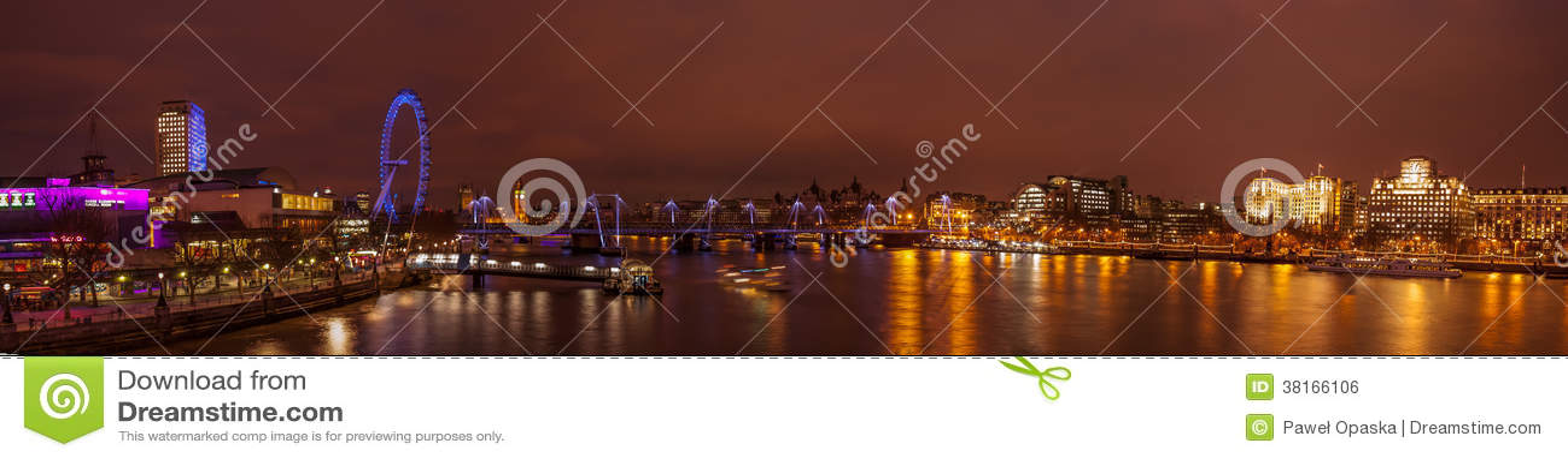 London panorama at night