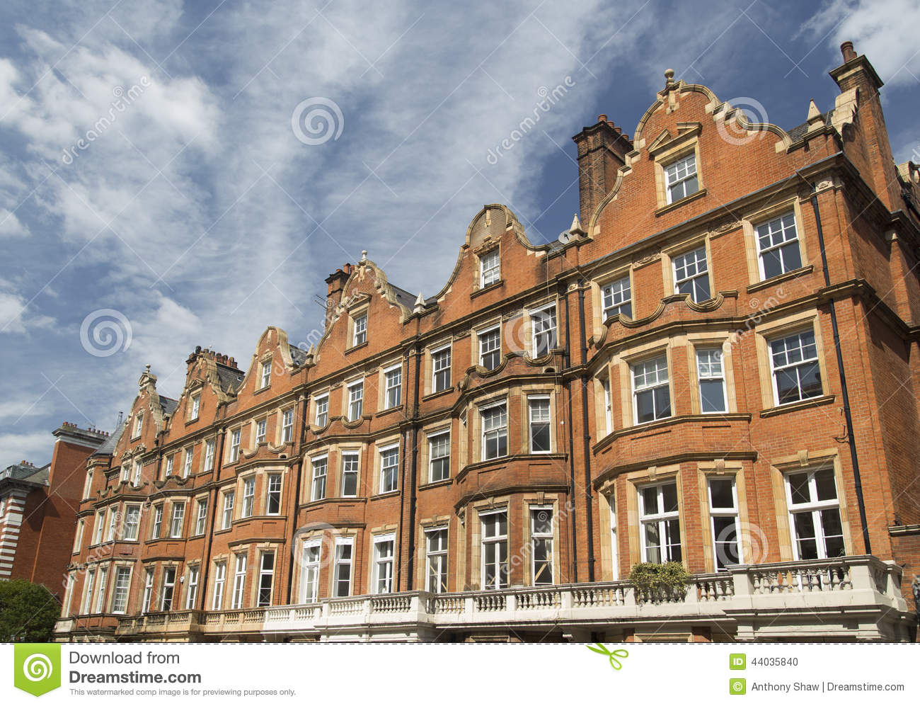 Stock Photo Residential Red Brick Apartment ...